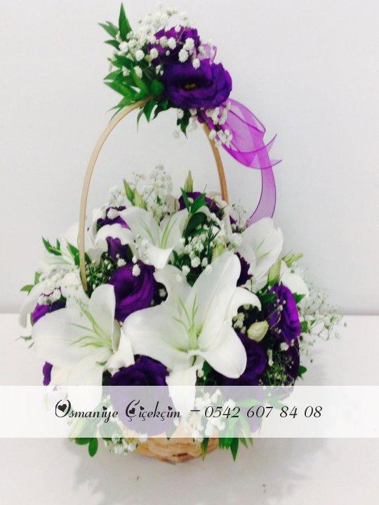 Çiçekli Sepet